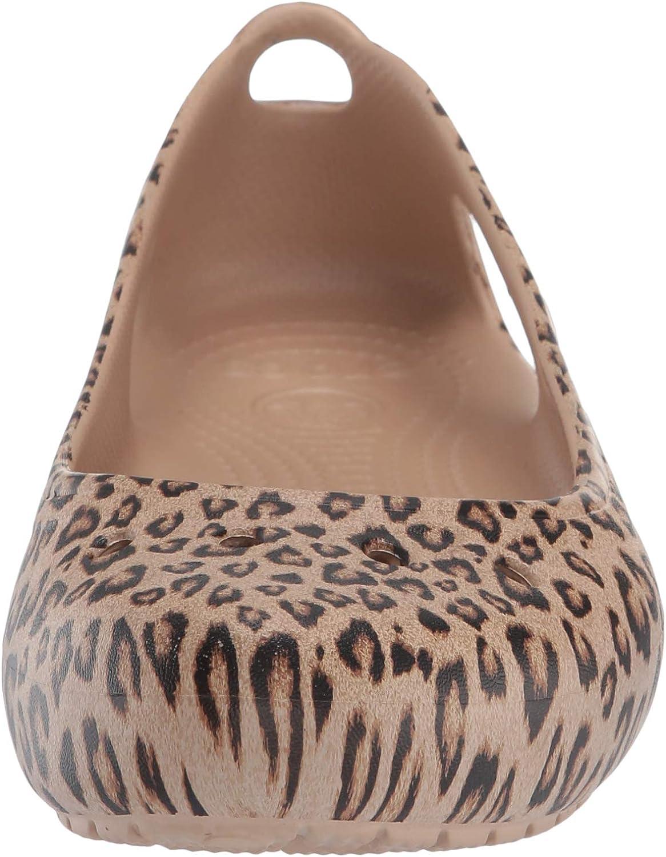 Crocs Womens Kadee Leopard Print Casual Dress Shoe|Comfort Fashion Flat Ballet