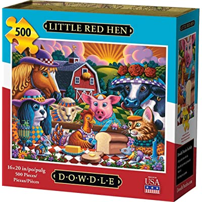 Dowdle Jigsaw Puzzle - Little Red Hen - 500 Piece: Toys & Games [5Bkhe0304132]