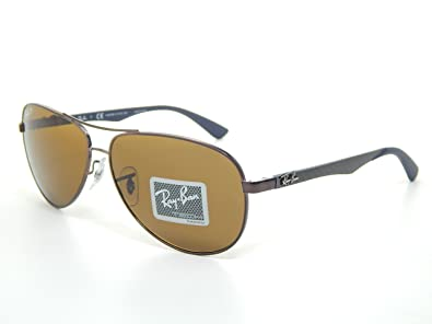 c8a05c5b2ab Image Unavailable. Image not available for. Color  Ray Ban Tech RB8313 014 N6  Brown Crystal Brown Polarized Lens 61mm Sunglass