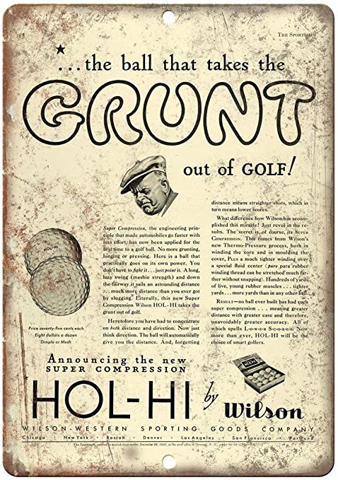 HALEY GAINES Wilson Super Compression Golf Ball Placa Cartel ...