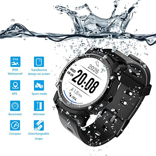 smart watch FS08 Inteligente Reloj/Pulsera, Deportes GPS ...