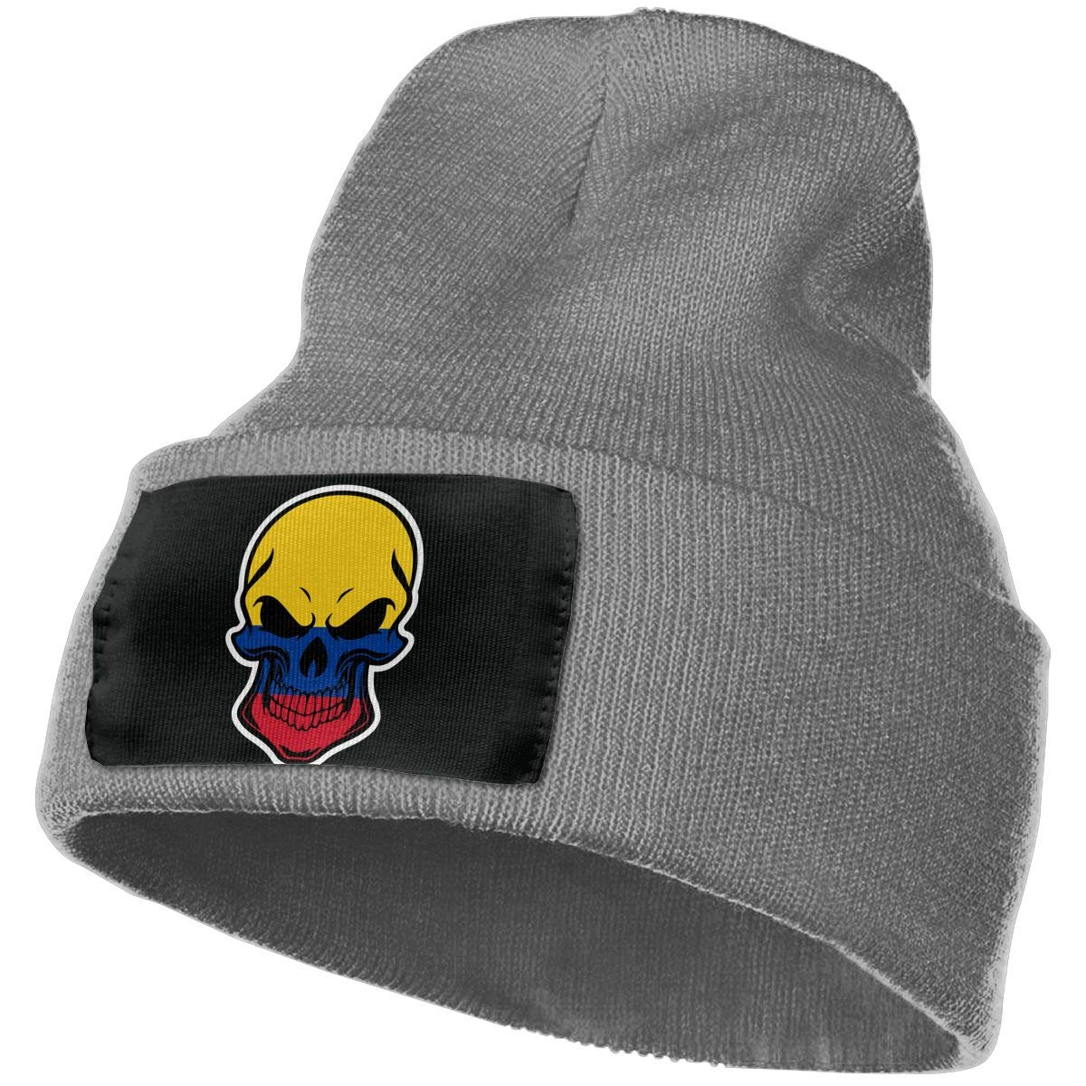 MXMAOM9MX Colombia Flag Skull-1 Warm Knitting Hat Mens Womens 100/% Acrylic Skull Cap