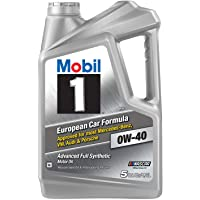 Mobil 1 - 153669 Synthetic Motor Oil 0W-40 5 Quart