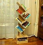YATAI 7-Tier Wooden Shelf, Tree Design Magazine CD Geometric Book Shelf – Wood Bookcase – Storage Shelf Wooden Rack…