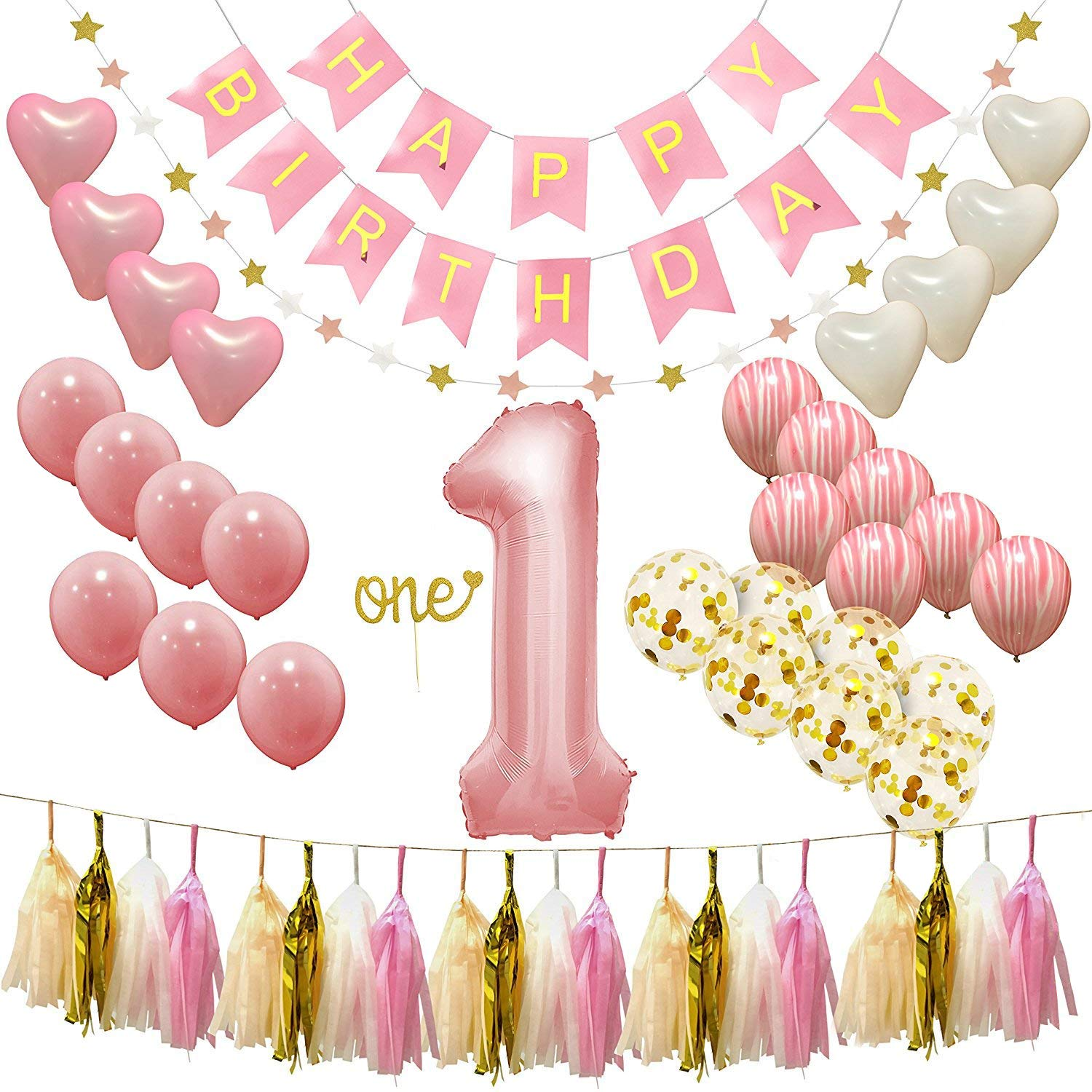 Ecore Fun First Birthday Party Decorations Supplies For Girl