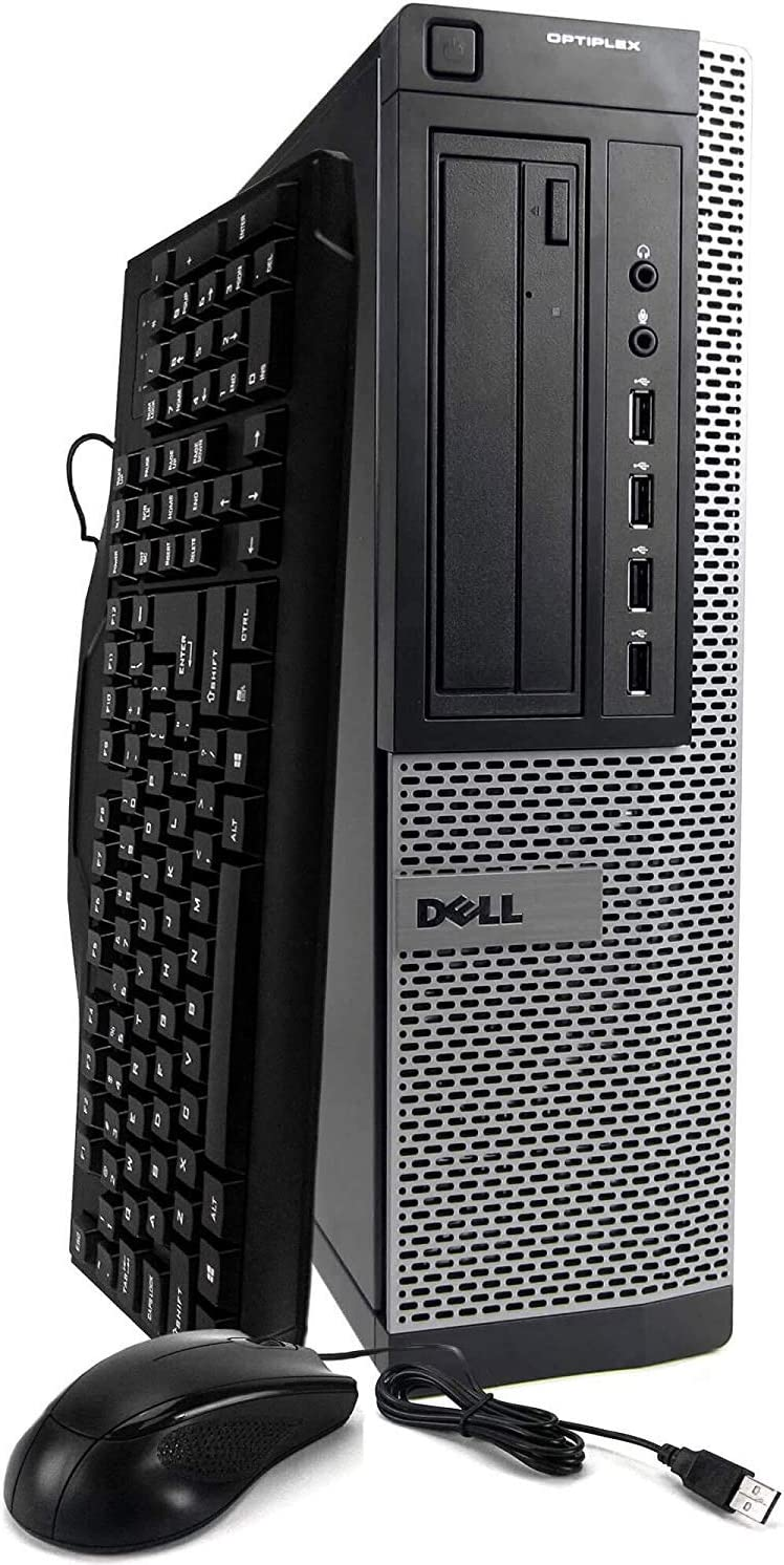 Dell Optiplex 9010 Desktop Computer - Intel Core i7 3.8GHz, 16GB DDR3, New 1TB SSD, Windows 10 Pro 64-Bit, WiFi, DVDRW (Renewed)