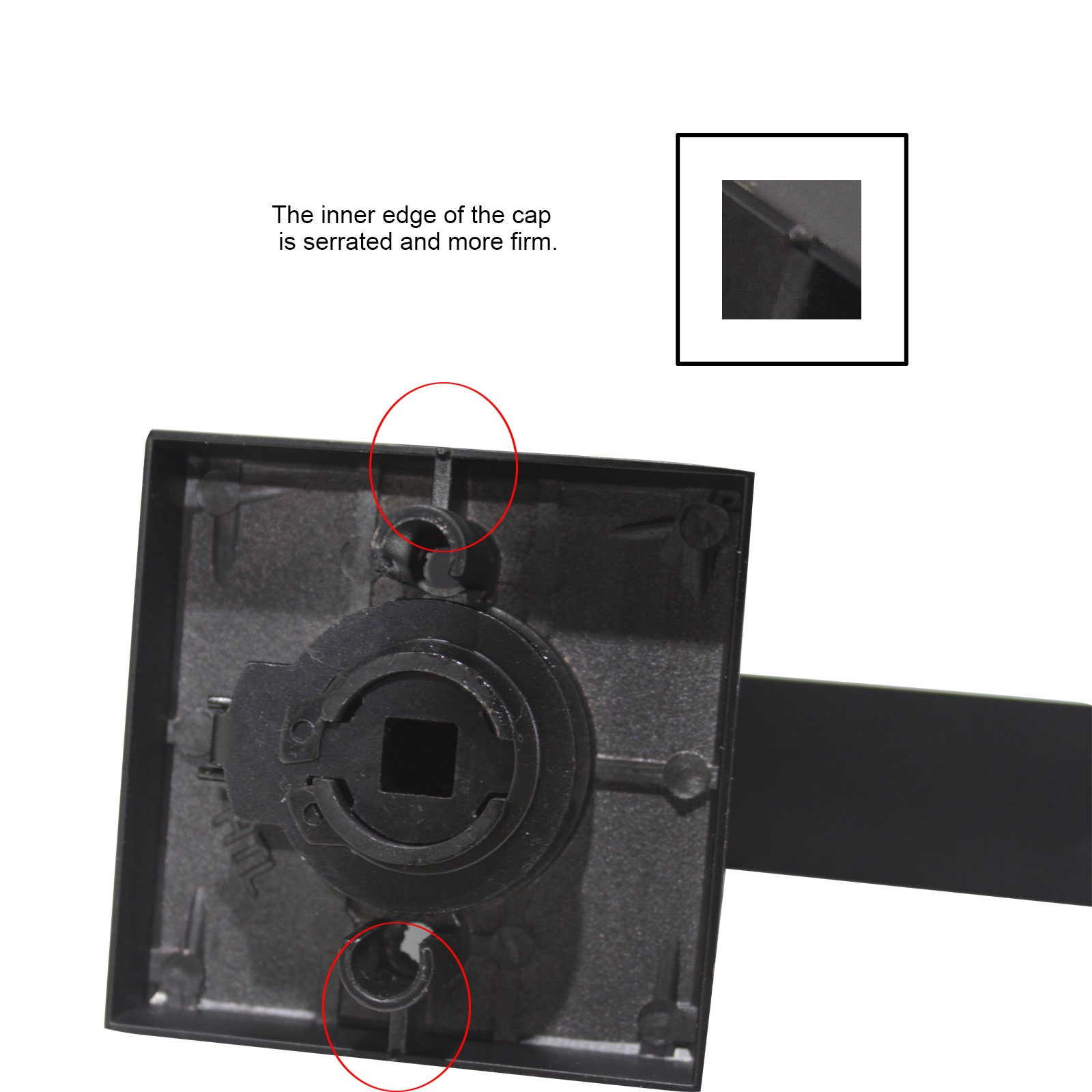 10 Pack Probrico Interior Bedroom Entrance Door Lever Doorknobs Door Lock One Keyway Entry Keyed Alike Same Key Entrance Lockset in Black Each with 3 Keys by Probrico (Image #6)