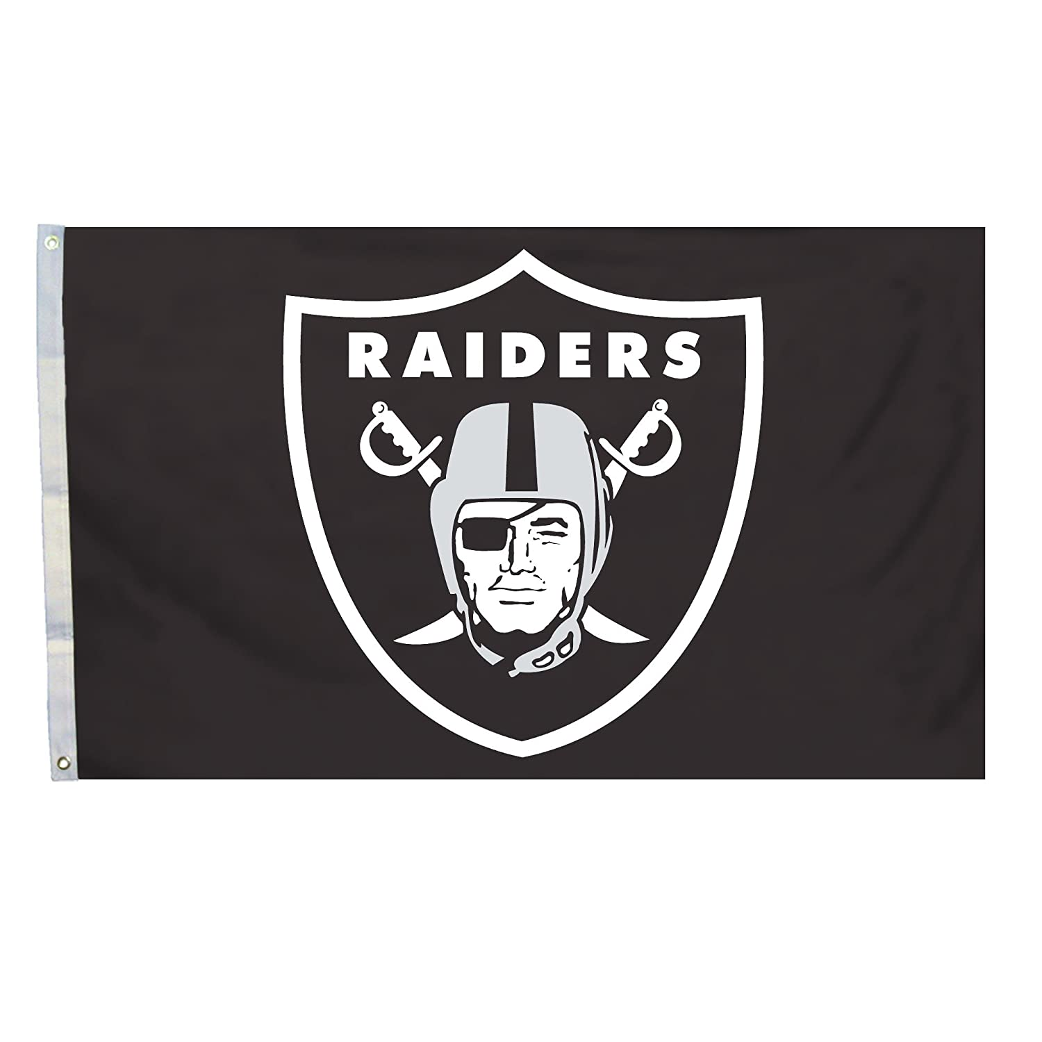 NFL Oakland Raiders Logo Only 3 by 5 Feet Flag with Grommets