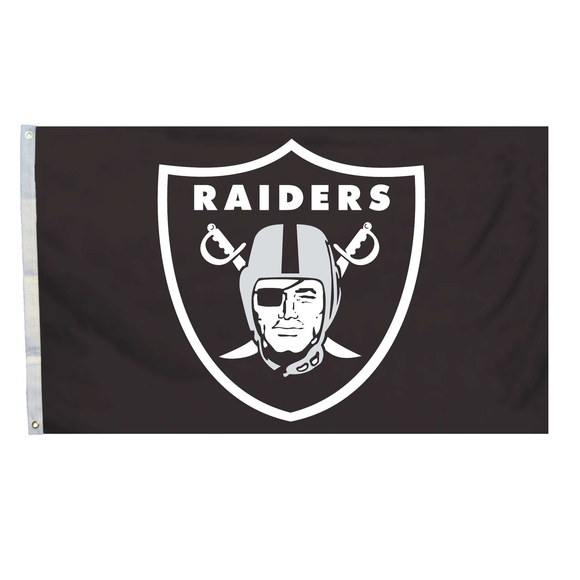 NFL Oakland Raiders Logo Only 3-by-5 Feet Flag with Grommets