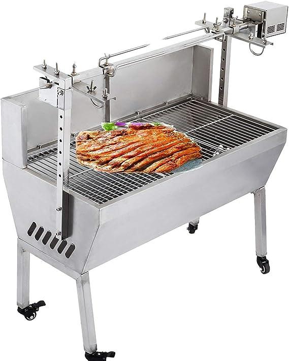 VEVOR 132 lbs/60KG 110V 132 lbs/60KG Rotisserie Grill Roaster BBQ Pig Lamb Stainless Steel
