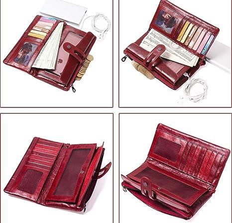 LCDY Nueva Billetera De Cuero Multifuncional para Damas, Hebilla De Cuero De Moda,Black,20 * 2.5 * 11CM: Amazon.es: Deportes y aire libre