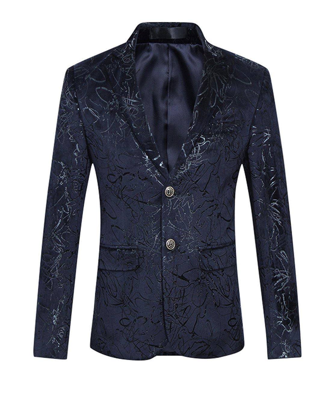 MOGU Herren Printed Casual Blazer Jacke