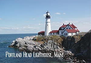 Portland Head Lighthouse, Cape Elizabeth, Museum, Maine, Portland Harbor, Travel, Souvenir, Locker Magnet 2 x 3 Fridge Magnet
