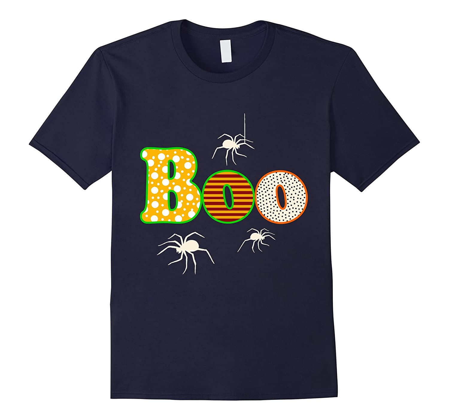 Halloween BOO with Spiders T-Shirt-TD