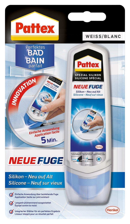 Pattex Neue Fuge   Silikon Neu Auf Alt/Fugenmasse   Ideal Für Schmalere  Fugen Geeignet/1 X 100ml, Weiss: Amazon.de: Baumarkt