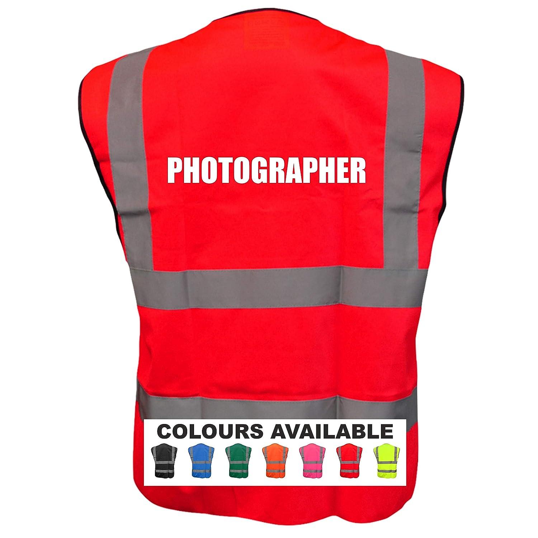 PHOTOGRAPHER Printed Event Photographer camera vest waistcoat Photographer Safety Events Vest