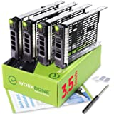 WORKDONE 4-Pack - 3.5 inch Hard Drive Caddy - Compatible for Dell PowerEdge Servers - with Detailed Installation Manual…