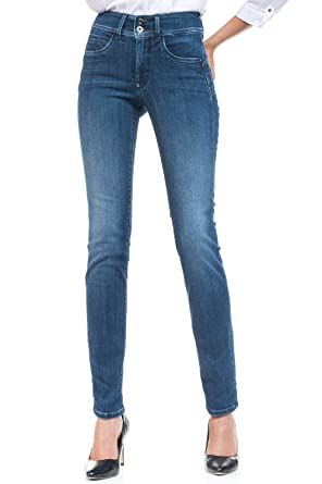 13cc679707 Jean Salsa Secret Slim Push In Bleu Taille W32/L32: Amazon.co.uk ...
