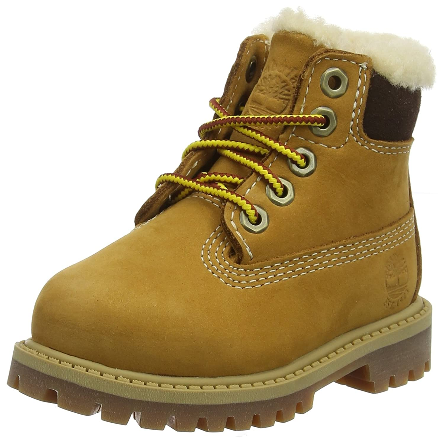 Timberland 6 in Bottes Premium Waterproof Shearling Lined, Bottes in Mixte Enfant 20 EU|Jaune (Wheat Nubuck) 9896ad