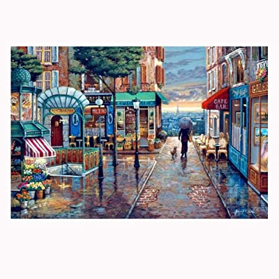 Dragon Honor 1000 Pieces Adult Puzzles Difficult Noctilucent Growups Puzzle Romantic Town: Toys & Games