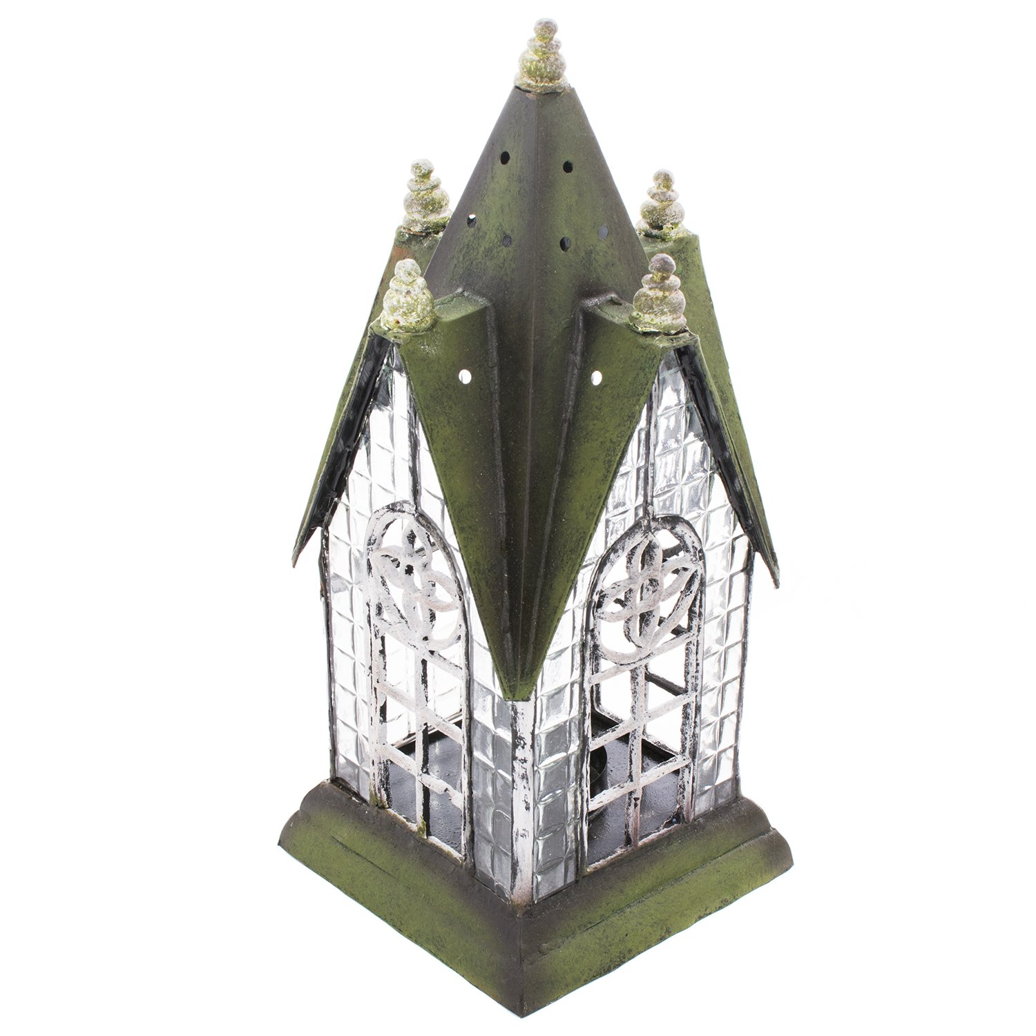 English Pennington Lantern Tea Light Candle Holder - ChristmasTablescapeDecor.com
