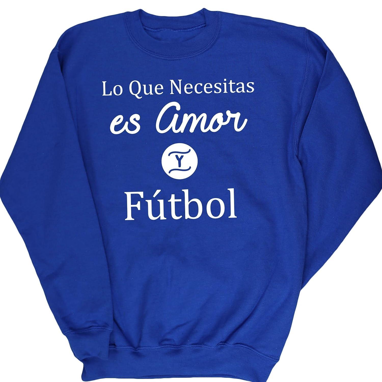 HippoWarehouse Lo Que Necesitas es Amor Y Fútbol jersey ...