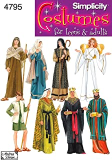 product image for Simplicity 4795 Historical and Biblical Costume for Adults and Teens by Andrea Schewe, Sizes A (XS-XL)