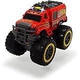 Dickie Toys 203304000 - Flame Hunter, Feuerwehr-Monstertruck, 23 cm