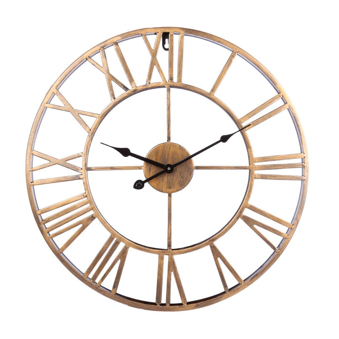 12che Horloge Murale Vintage Pendule Murales Industriel en Chiffres Romains  Exquis Murale pour Chambre Salon Bureau  Amazon.fr  Cuisine   Maison 74da2f2db213