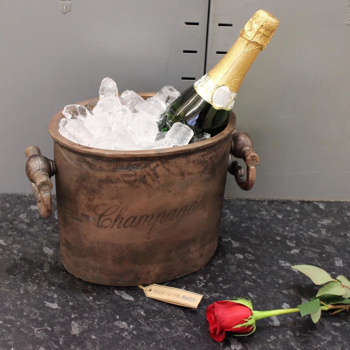 Vintage Copper Champagne Cooler Ice Bucket