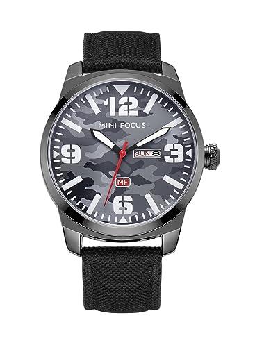 camuflaje negro patrón relojes clásicos de los hombres de buen negocio único de cuarzo ocasional de