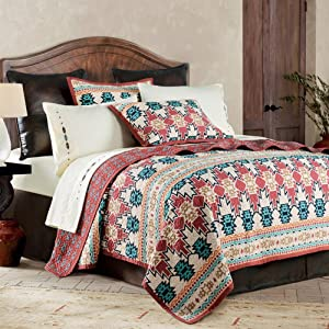 HiEnd Accents Quilt Set, Native American Pattern, King