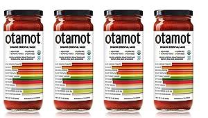Otamot Organic Essential Sauce (4 Pack) 10 Organic Veggies, No Sugar Added, Non-GMO, Vegan, Whole30 Approved