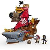 Fisher-Price Imaginext Shark Bite Pirate Ship, Multi-colored
