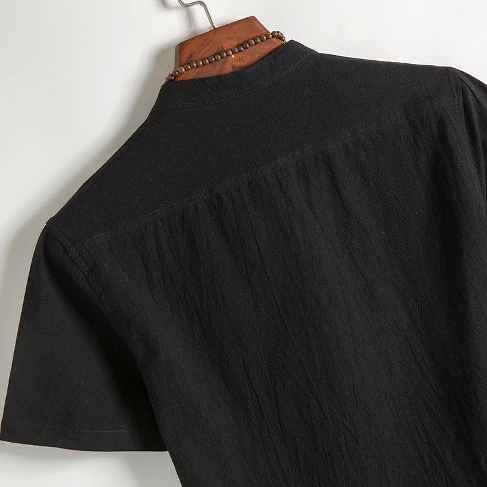 Hombre camiseta T-shirt manga corta,Sonnena ❤ Camisa clásica con botones florales para hombre Tops manga corta Tang Blusa de lino: Amazon.es: Hogar