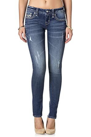 Rock Revival - Womens Piera S201 Skinny Jeans, 29, Denim