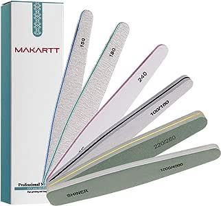 Makartt Professional Nail File, Nail Buffer Nail Polish for Acrylic Gel Emery Boards Nail Buffer Manicure F-07