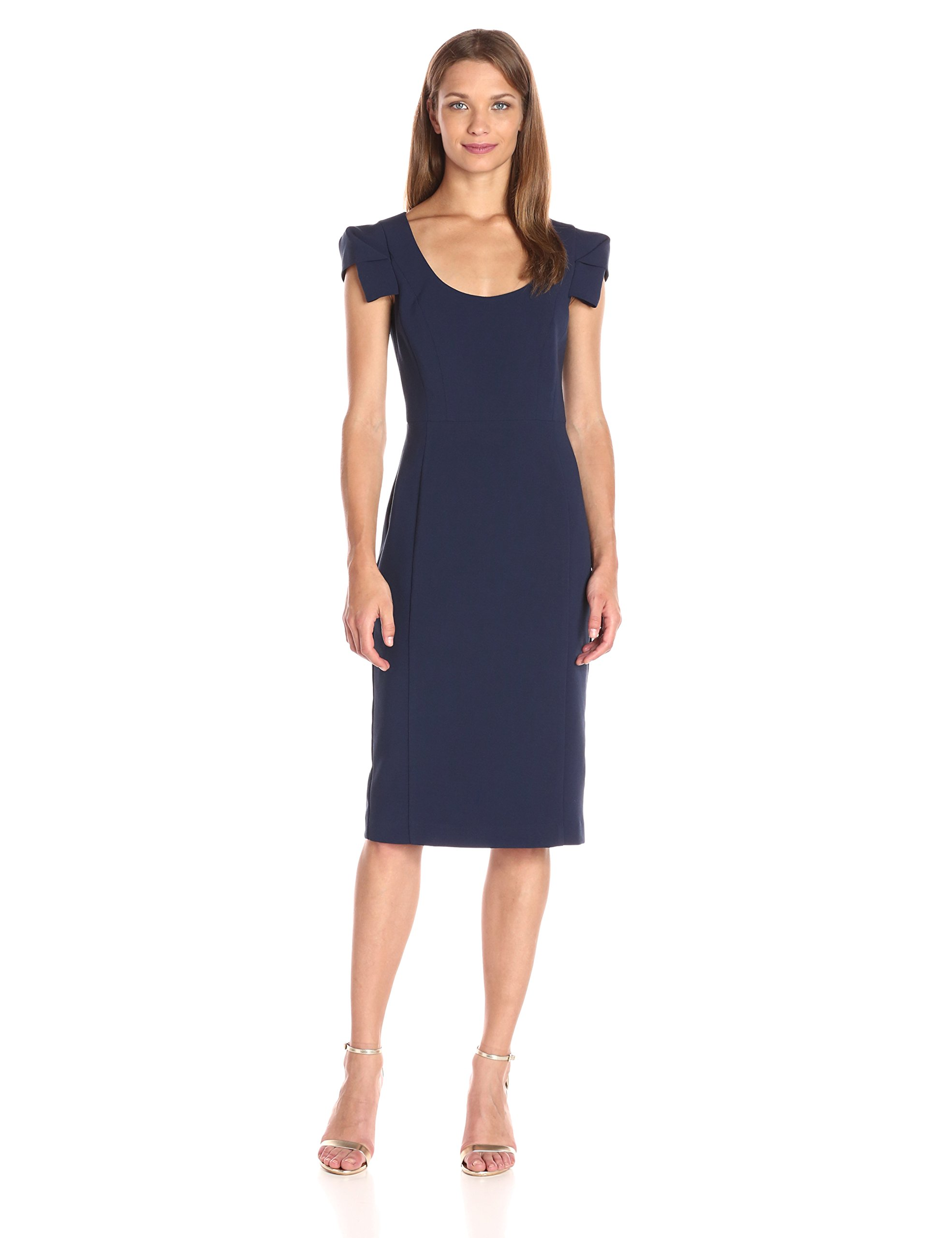 Black Halo Women's Amelie Sheath Dress, Pacific Blue, 8
