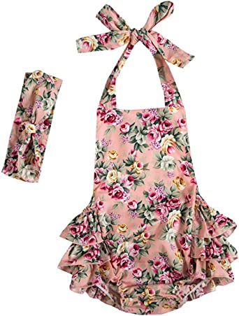 Girls Floral Spanish Romper And T-shirt Set With Ruffle Detail
