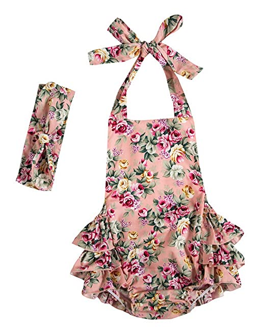 ced0a65116 Messy Code Baby Girls Clothes Onesies Boutique Toddlers Ruffle Rompers  Jumpsuit