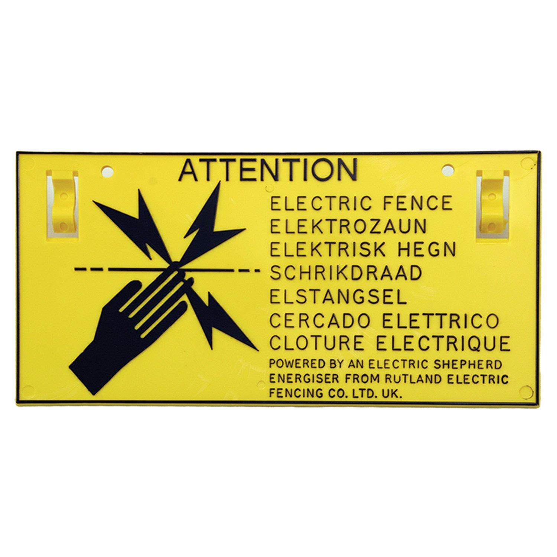 Rutland Panneaux d'avertissement (x5) Woodstream