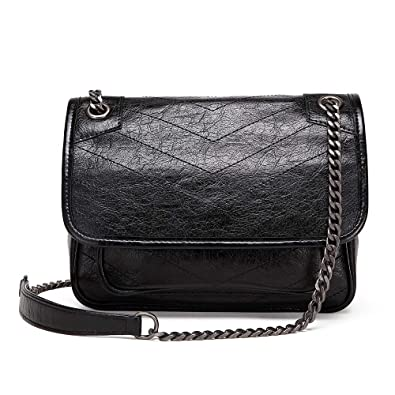 Neverout Women Cow Leather Should Bag Fashion Quilted Top Handle Crossbody  Purse Handbag (NP2177) 2354662489d1a