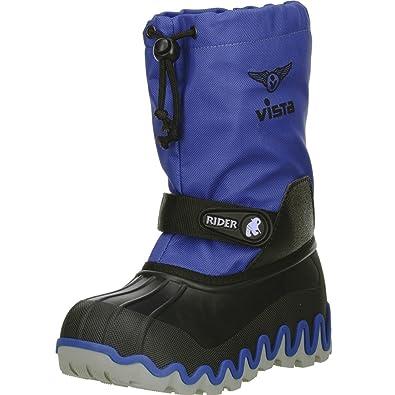 13e78e0513d5 Vista Canada Polar Kinder Jungen Mädchen Winterstiefel Snowboots  Blau Schwarz, Farbe Blau,