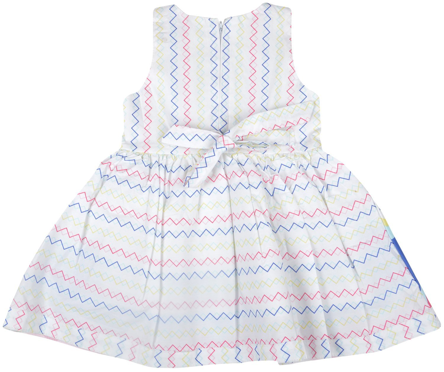2ae9f374a Kuchipoo Baby Girls  100% Cotton Frock (KUC-FRK-138 Blue and White ...