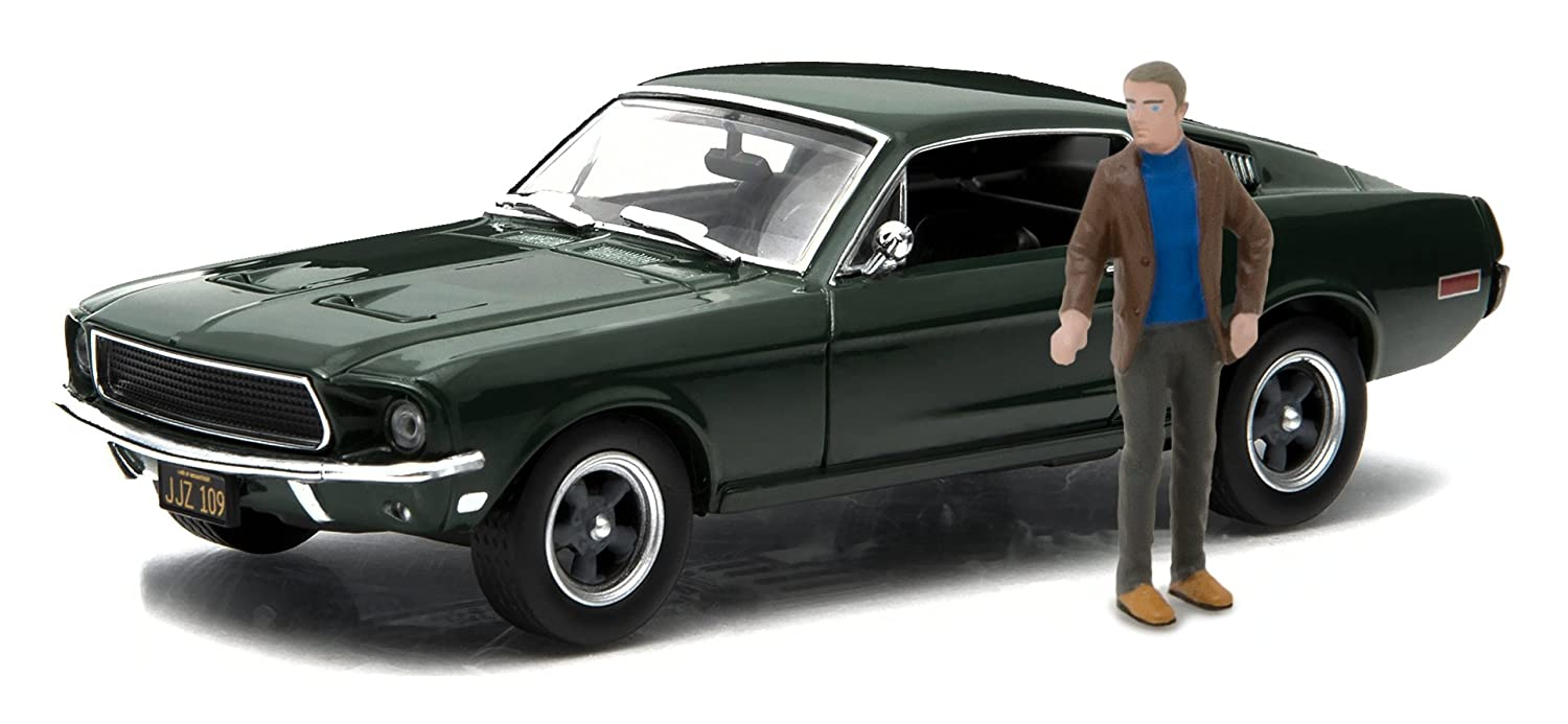Ford Mustang GT Fastback with Steve McQueen Figure Die Cast Vehicle 1968 Greenlight 1:43 Hollywood Bullitt