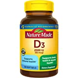 Vitamin D3, 250 Softgels, Vitamin D 2000 IU (50 mcg) Helps Support Immune Health, Strong Bones and Teeth, & Muscle Function,