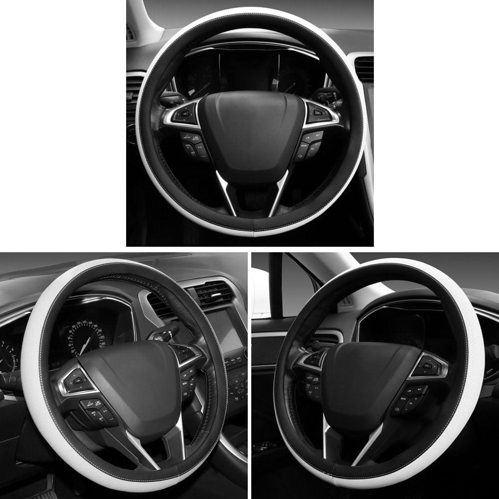 SEG Direct Microfiber Leather Orange Steering Wheel Cover for F-150 Tundra Range Rover 15.5-16