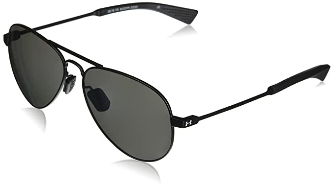 54239be2ba Under Armour UA Getaway Aviator Sunglasses, UA Getaway Satin Black ...