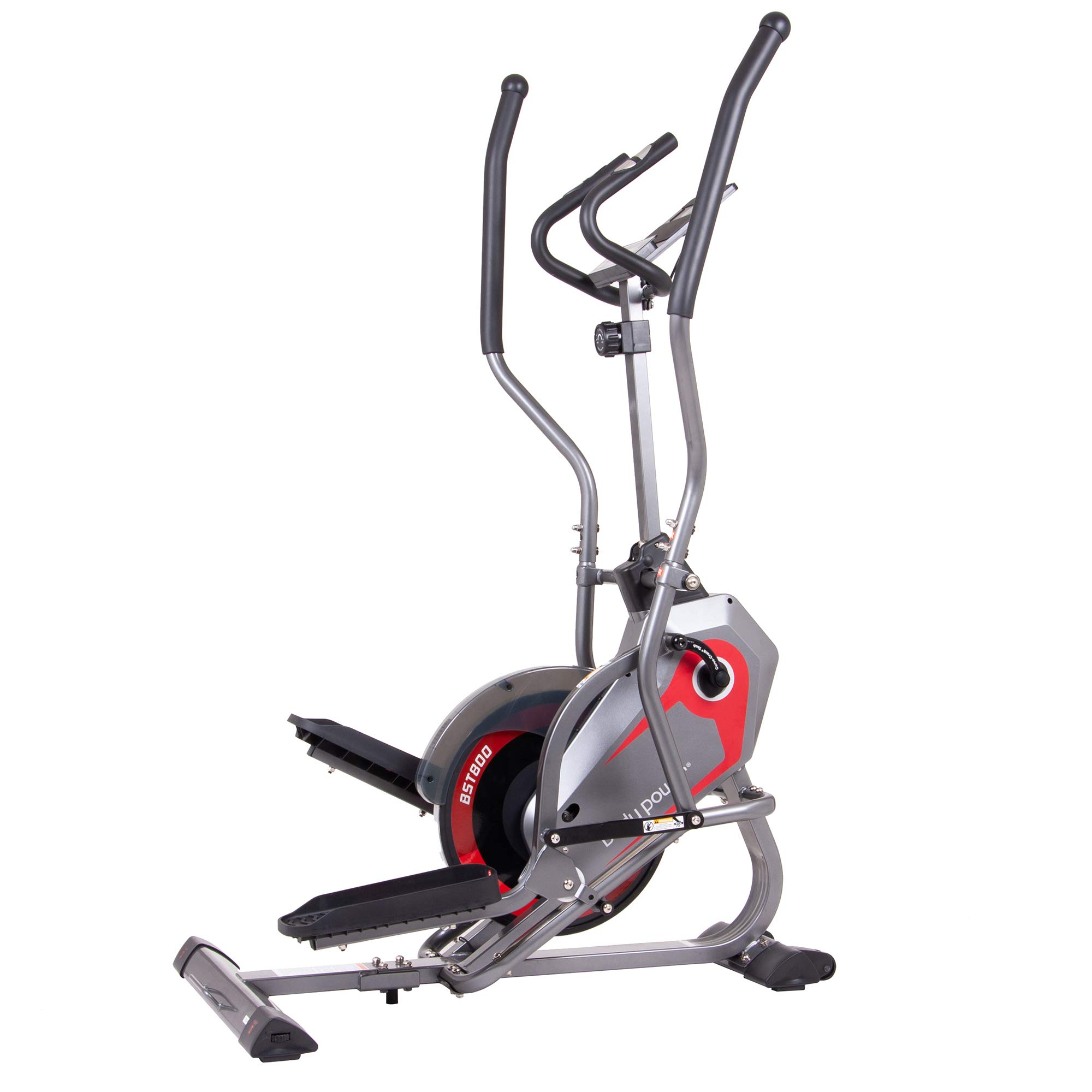 Body Power StepTrac 2 in 1 Elliptical Stepper Workout HIIT Trainer with Curve-Crank Technology by Body Power