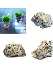 Hinmay Piedra pómez decorativa para acuario, diseño de roca y pómez natural